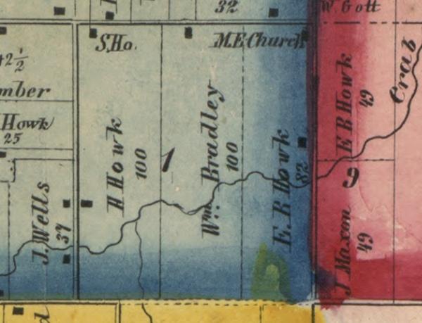 Bradley 100 Acres in SE corner Seciton 1 1857