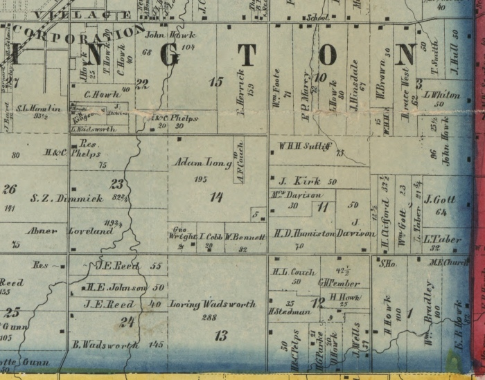 SE Part of Wellington Township 1857